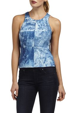 tie-dyed leather reef top