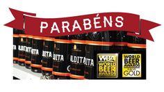 A cerveja artesanal Maldita, na versão BarleyWine, foi considerada a melhor cerveja da Europa no concurso World Beer Awards Container, Beer, World, Craft Beer, Productivity, Products, Verses, Europe, Root Beer