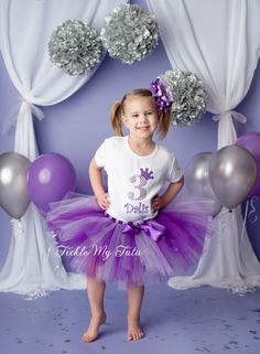 Purple and Lilac Diva Crown Princess Birthday Tutu Outfit...www.ticklemytutu.com