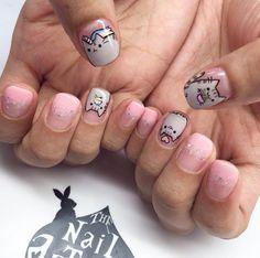 Trendy fails art for kids pusheen Kawaii Nail Art, Cat Nail Art, Cat Nails, Fancy Nails, Pretty Nails, Cat Nail Designs, Queen Nails, Nails For Kids, Unicorn Nails