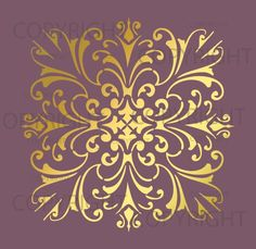 wall stencil patterns gold on base color - Design Stencils For Walls