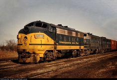 Chesapeake & Ohio F7(A) 7057, with Baltimore & Ohio F7(A) 6578 and F7(B) unit. C&O 7057 was leased and later sold to B&O in early 1968.
