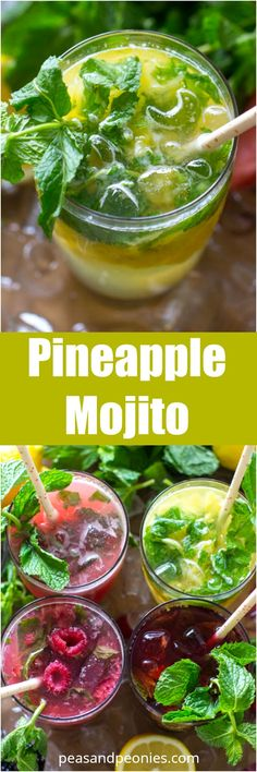 Fruit Mojitos are so easy to make, they are also pretty and refreshing, the perfect summer drink. Pineapple Mojito made with fresh pineapple.