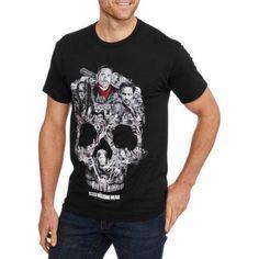 Walking Dead Skull Montage Men's Graphic Tee, Black