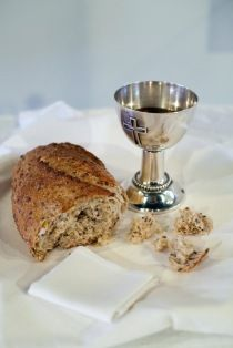 DEFINITELY WANT TO TAKE COMMUNION DURING THE CEREMONY LIKE THIS (shared cup and bread).