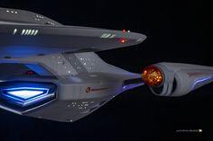 Port nacelle scale by Bill Krause Star Trek Models, Starfleet Ships, Star Trek Images, Star Trek Characters, Star Trek Original Series, Ship Drawing, Star Trek Starships, Sci Fi Ships, Star Wars