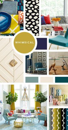 Your Ultimate Guide to Interior Design Styles: Whimsical- So you want to have some fun in your home? Want to show that you don't take life too serious? Whimsical is perfect for you- bright colors, bold patterns, unexpected accessories and shapes. Interior Design Blogs, Mood Board Interior, Estilo Interior, Interior Styling, Interior Decorating, Decorating Tips, Decorating Websites, Interior Ideas, Paper Moon