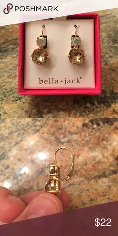 Bella Jack Boutique Iridescent Earrings Authentic, Beautiful and Timeless... Brand New. Never used. bella jack Jewelry Earrings