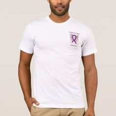 Leiomyosarcoma Awareness Purple Ribbon Angel Custom Tee