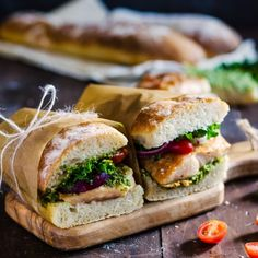 Lunch just got a whole lot better with these flavorful and juicy chicken and pesto ciabatta sandwiches.