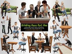 """joannebernice: """" DRINKING POSES PACK ONE - The Happy Drunks REQUEST Okay so the poses here were literally never ending with this one. When i started out the ideas just kept coming and coming and coming. Now with this pack most poses are versatile and. The Sims, Sims Cc, Sims 4 Couple Poses, Couple Posing, Sims 4 Controls, Male Sweaters, Sims Stories, Male Boxers, Sims 4 Black Hair"""