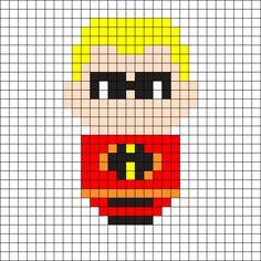 Dash - The Incredibles Perler Bead Pattern