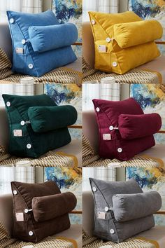 Adjustable Back Wedge Cushion Pillow with Phone Pocket for Sofa Bed Office Wedge Cushion, Wedge Pillow, Diy Sofa, Diy Bed, Baby Pillows, Throw Pillows, Sofa Cushions, Burlap Pillows, Sofa Bed Office