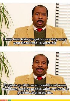 The perks of jury duty