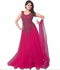 Chaayakar-Womens-Net-Anarkali-Dress-MaterialChaayaclick4Dark-Pink-0