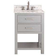 Brooks Chilled Gray 24 Inch Vanity Only Vanities Bathroom Vanities Bathroom Furniture