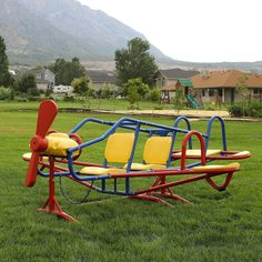 lifetime ace flyer teeter totter seesaw playground airplane steel equipment - Lifetime Adventure Tower Playset