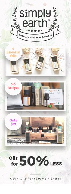 Our essential oil recipes box gives you everything you need to make 5-6 recipes. All the ingredients. All the containers. All the labels. Including 4 full size bottles of essential oils. At one low price of $39.
