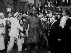 The Golem was a silent 1915 German horror film starring Paul Wegener as the title character, who also co-wrote and directed along with co-star Henrik Galeen. It told the story of a human sized monster made out of clay in ancient Prague to protect the Jewish people from their persecutors being found in the rubble of an old synagogue in the present day.