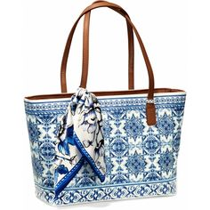 Terra Scarf Zip Tote from the Bella Capri Collection. Brighton Purses, Brighton Handbags, Brighton Bags, Brighton Jewelry, Fashion Handbags, Tote Handbags, Leather Handbags, Beautiful Bags, Purses And Bags
