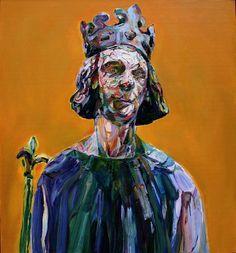 "Aaron Smith, Kingly,2008, oil on panel, 31"" x 29"""