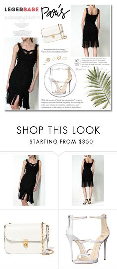 """""""black dress online shopping"""" by legerbabedress ❤ liked on Polyvore featuring Valentino, Giuseppe Zanotti, H&M and GUESS"""