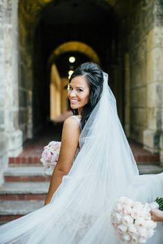 Classic bridal veil | Natasja Kremers Photography | see more on: http://burnettsboards.com/2014/09/glamorous-wedding-cutest-flower-girls/