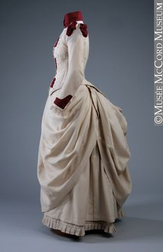 1887 ... Dress ... wool ... by J. J. Milloy, Montreal ... © McCord Museum ... photo 4