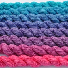 Magenta to Aqua Color Bridge Yarn Set. $42.90, via Etsy.