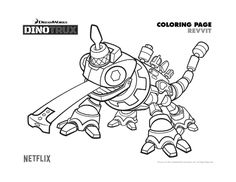 Free Dinotrux Revvit Coloring Page