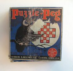 Puzzle-Peg game Vintage 1929 solitaire puzzle strategy game. Original box and booklet. by PickleladyVintage on Etsy