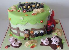 cute farm cake by shereen's cakes & bakes - https://www.facebook.com/shereenscakesandbakesstevenage?ref=stream