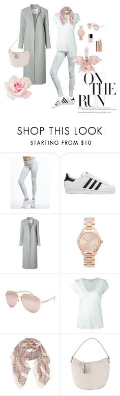 """on the run"" by balliquina on Polyvore featuring Alo Yoga, adidas Originals, ADAM, Michael Kors, Chanel, Full Tilt, James Perse, Sole Society and Hadaki"