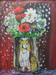 Lydia Corbett, Spring is coming, Acrylic on board Spring Is Coming, Pablo Picasso, Ponytail, Still Life, Art Ideas, Roses, David, Paintings, My Love