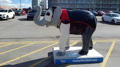 Elephant Sculpture, Yorkshire England, Sheffield, Elephants, Steel, City, Classic, Artwork, Derby