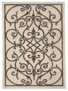 """Normandy"" was inspired by the rug designer's visit to the Wrought Iron Museum in Rouen, France. ""I was taking a break after completing a project at a chateau in Normandy,"" said Barran, ""and I was just blown away by the exhibits at this museum."" Hand-tufted in two levels of wool or wool and natural silk, this rug demonstratse how color can be used to mimic a different material. The softly mottled black and white on the rugs echoes the facets produced on the iron when it is struck by a…"