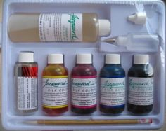 Complete Silk Painting Beginner set with DVD, dye and silk hankie