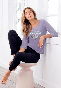 36d47210dbfbf Petite Fleur Pyjama mit Faultier Print »nap all day«