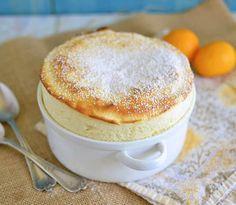 Meyer Lemon Souffle via LittleFerraroKitchen.com- try with less sugar and almond milk instead of milk