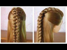 Сoiffures simples et rapides cheveux longs/mi long Tresse facile à faire soi meme (3 idées) - YouTube