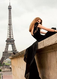 Classic black evening gown