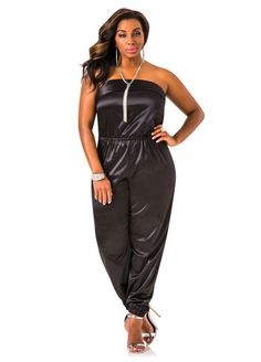 striped tube top jumpsuit #unique_womens_fashion | unique plus
