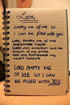 Something to pray daily...