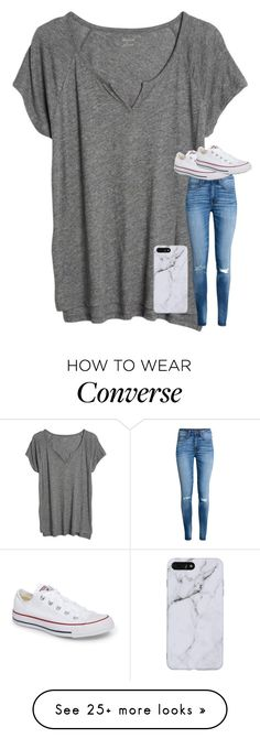 """Untitled #5273"" by laurenatria11 on Polyvore featuring Madewell, H&M and Converse"