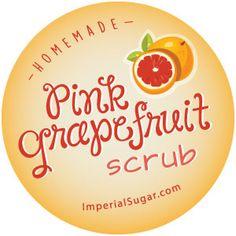 Pink Grapefruit Sugar Scrub