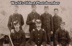 The Oldest Photobomber…  (Bottom left corner)