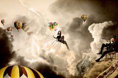 ADN 006 - Dans les airs / Tutoriel réalisé sur Photoshop / © ADNCreative http://www.adn-creative.com/magazine/view/adn-creative-magazine-n-06