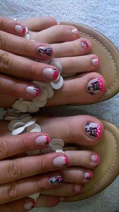Manos y pies Toe Nail Art, Toe Nails, Mani Pedi, Pedicure, Nails For Kids, Pretty Nail Art, Toe Nail Designs, Nail Art Galleries, Beauty