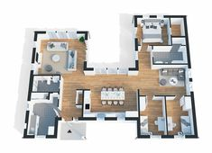 Best Barns, New Homes, Floor Plans, Flooring, How To Plan, Architecture, Sims 4, Building, Villa