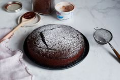 No-Measure Chocolate Cake. Use 1/2 oil, 1/2 applesauce & vanilla. Food52